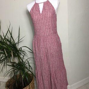 Maxi Dress X-Small 61% Linen Red Universal Thread